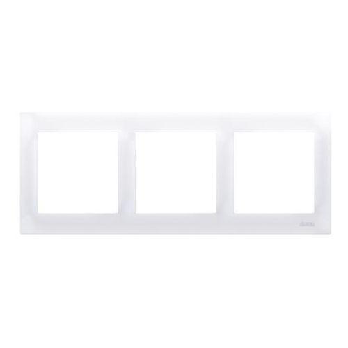 Kontakt-simon Ramka potrójna simon 54 drk3/11 do puszek karton-gips biała (5902787827526)