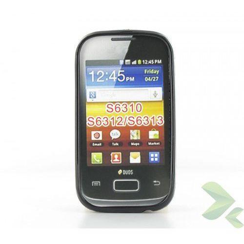Geffy - Etui Samsung Galaxy Young/Young Duos TPU solid color black, kolor czarny