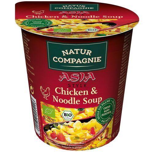 Danie w kubku zupa z kurczakiem i makaronem w stylu azjatyckim bio 55 g natur compagnie marki Natur compagnie (buliony, kostki rosołowe)