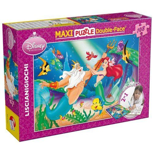 Puzzle dwustronne Maxi 108 el. Syrenka (8008324031788)
