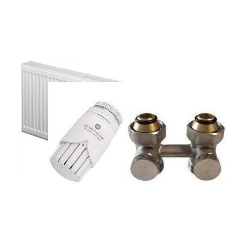 Purmo [zestaw] grzejnik płytowy  ventil compact cv22 600x800 1367 w z zestawem zaworów