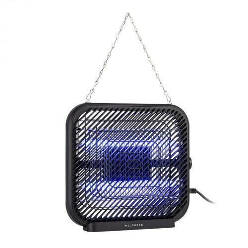 skyfall sq, lampa owadobójcza, 16 w, 50 m², diody led, tacka zbiorcza, łańcuch, czarna marki Waldbeck