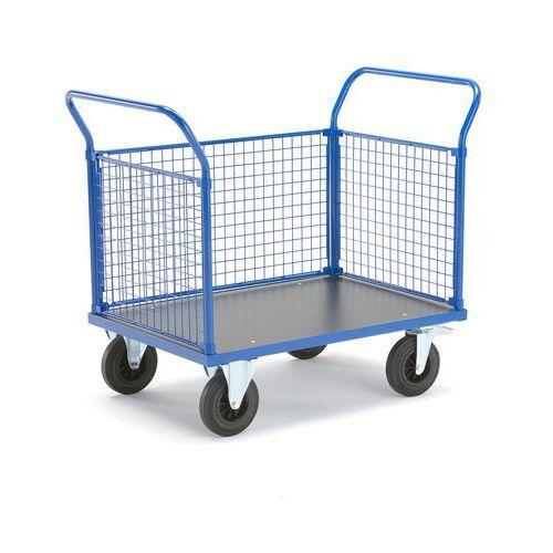 Wózek platformowy, 3 ramy z siatki, 1165x700 mm, z hamulcami marki Aj produkty