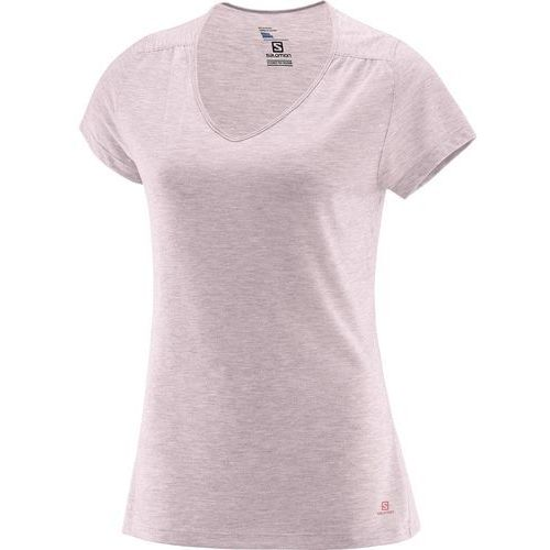 Salomon ellipse ss tee w pink dogwood m