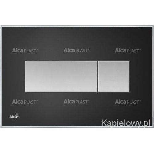 Alcaplast Przycisk spłuczki podtynkowej, czarny-połysk m1374