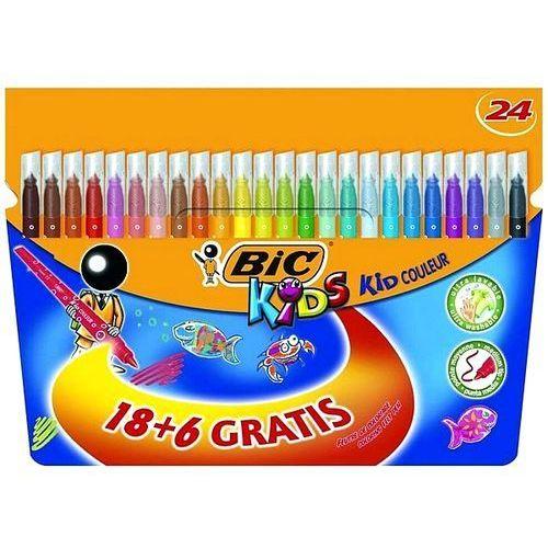 Bic Flamastry kids kid couleur 18+6 kolorów