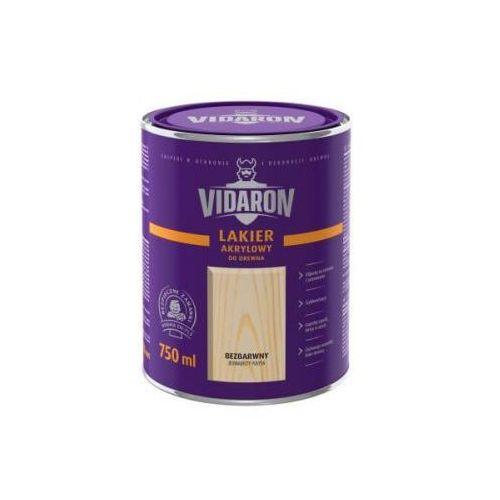 Vidaron - lakier akrylowy do drewna bezbarwny jedwabisty połysk 0.7l marki Śnieżka