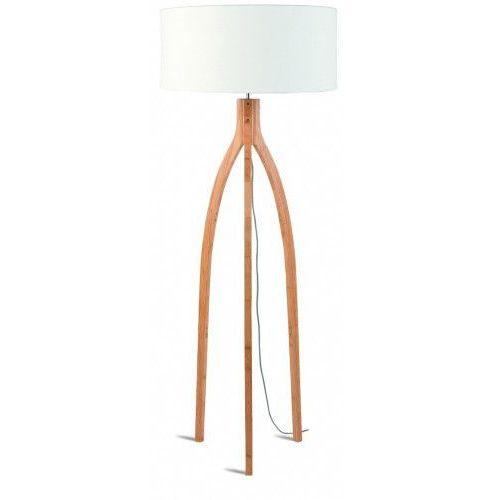 Lampa podłogowa Annapurna bambus 3-nożna 128cm/abażur 60x30cm, lniany biały