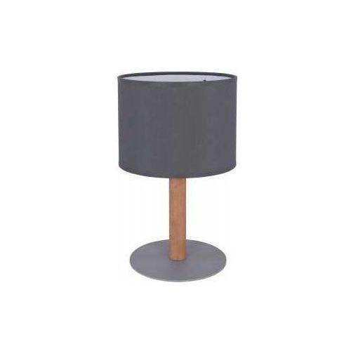 TK Lighting Deva Graphite 5219 Lampa stołowa lampka 1x60W E27 grafit/sosna