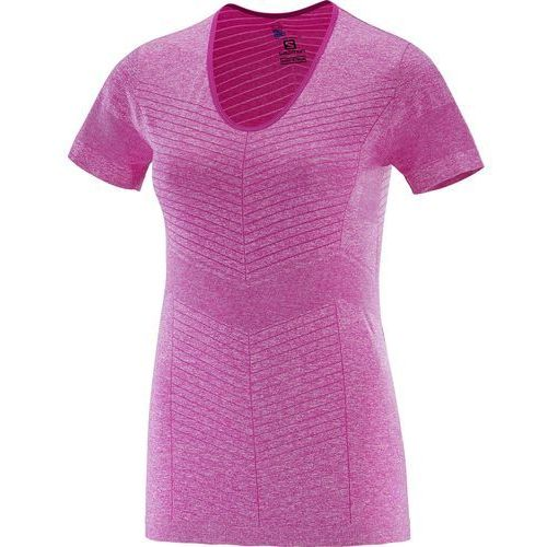 Salomon elevate seamless ss tee w rose violet s