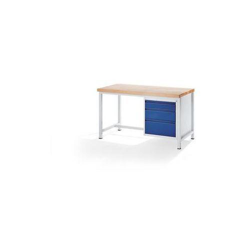 Stół warsztatowy, stabilny,3 szuflady rozmiaru L, wys. po 1 x 120/180/240 mm