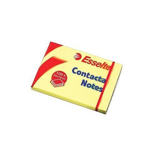 Esselte Bloczek samoprzylepny 75x50mm contacta żółty 100 kartek 83005