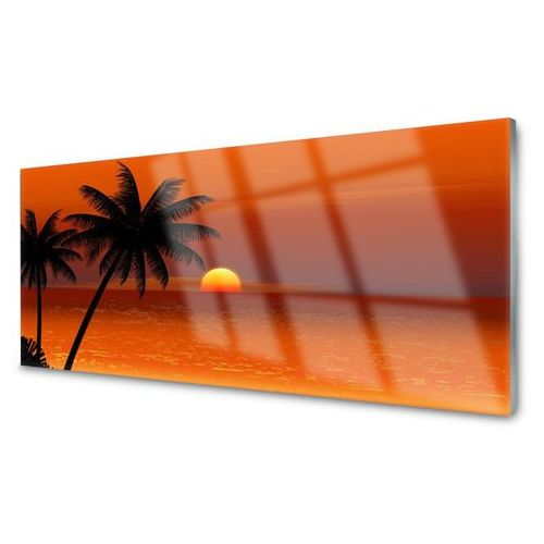 Tulup.pl Panel kuchenny palma morze słońce krajobraz
