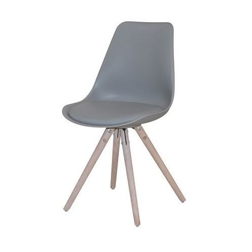 Interstil Krzesło woody szare, drewno dębu olejowane, 22130-5
