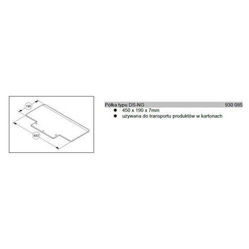 Wozki aluminiowe modulkar Półka typu ds-ng 450x190x7mm do wózków modulkar sano liftkar