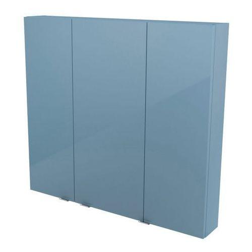Goodhome Szafka wisząca imandra 100 x 90 x 15 cm niebieska (3663602933380)