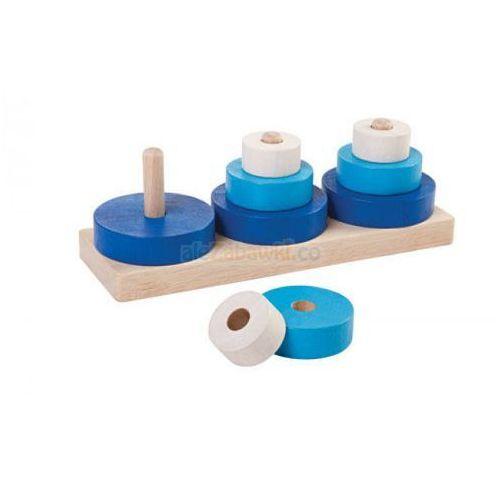 Plan toys Drewniana układanka 9 elementów -  (8854740053688)