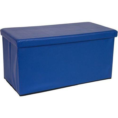 Duża niebieska składana pufa cube siedzisko kufer - niebieski marki Stilista ®
