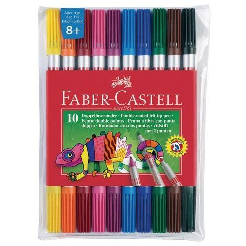Faber castell Flamastry dwustronne 10 kolorów pitt arist (fc151110)