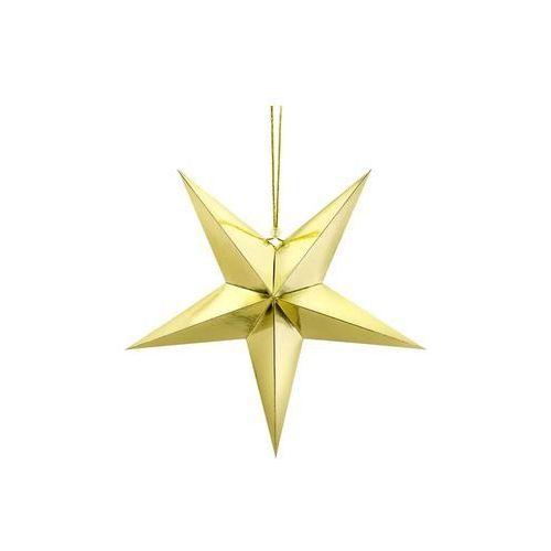 Dekoracja wisząca gwiazda papierowa srebrna - 45 cm marki Party deco