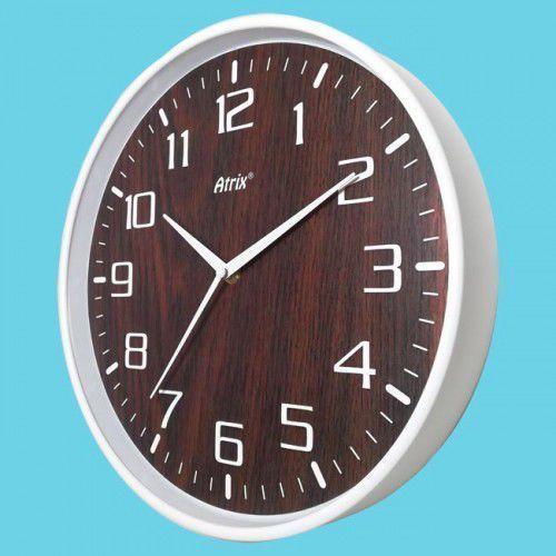 Zegar ścienny biały drewniana tarcza #3 marki Atrix