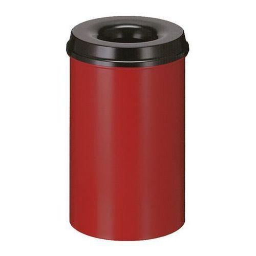 Kosz na papier, samogaszący, poj. 20 l, korpus czerwony / głowica gasząca czarna marki Vepa bins