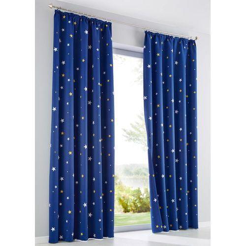 """Zasłona zaciemniająca """"Gwiazdy"""" (1 szt.) bonprix intensywny niebieski"""