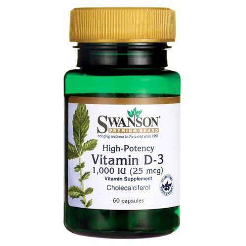 Swanson Witamina D3 1000 iu Cholekalcyferol 60 kapsułek (0087614115108)