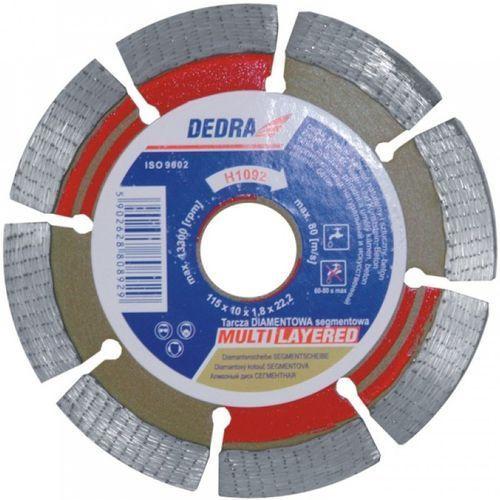 Tarcza do cięcia DEDRA H1092 115 x 22.2 mm segmentowa Multi-Layer