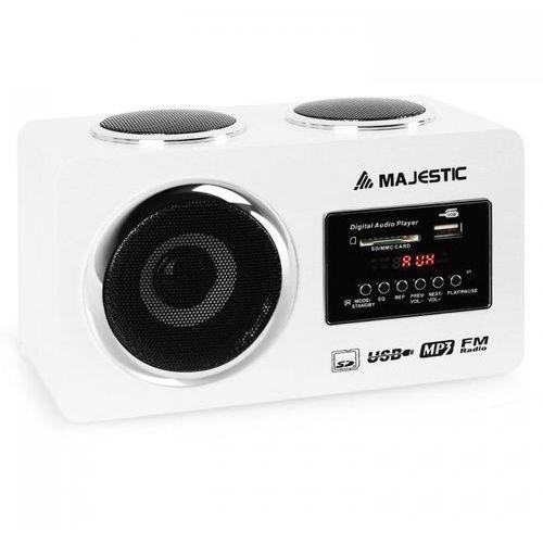 Majestic Odtwarzacz multimedialny audio ah 173 biały usb