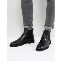 Selected homme leather chelsea boots - black