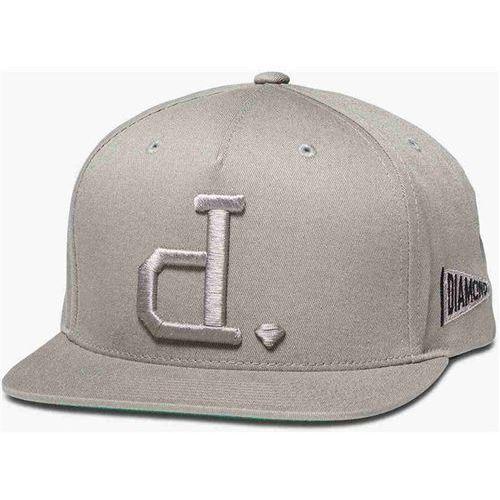 czapka z daszkiem DIAMOND - Un Polo Snapback Heather Grey (HTGR) rozmiar: OS, kolor szary