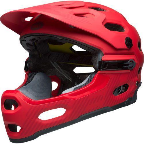 super 3r mips kask rowerowy czerwony l   58-62cm 2018 kaski fullface i downhill marki Bell