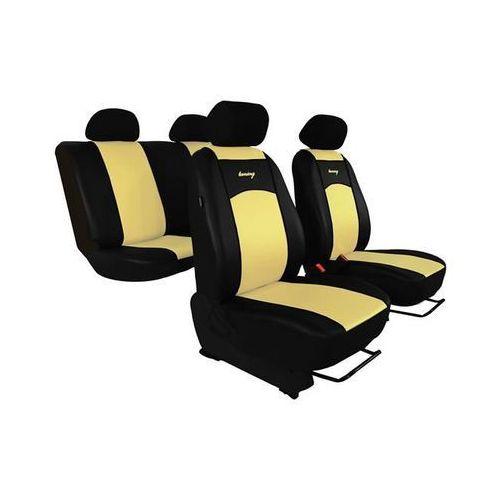 Pokrowce samochodowe uniwersalne eko-skóra beżowe peugeot 407 2004-2011 - beżowy marki Pok-ter