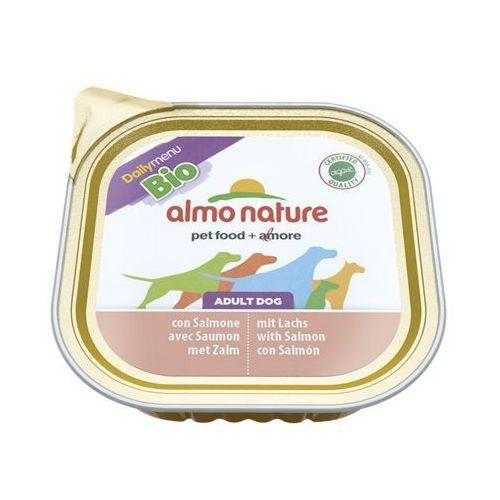 Almo nature daily menu bio dog łosoś - szalka 300g (8001154124507)