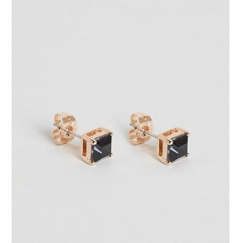 Simon Carter Square Haematite Jet Swarovski Crystal Stud Earrings Exclusive To ASOS - Black