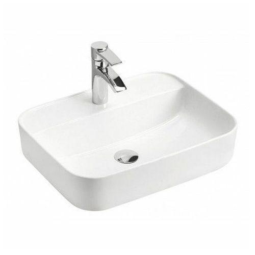 Ceramiczna umywalka nablatowa rafina 2x - biała marki Producent: elior