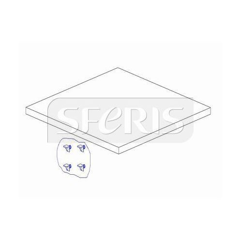 PINIO Marsylia Dodatkowa półka do szafy 2-drzwiowej biała MDF ()