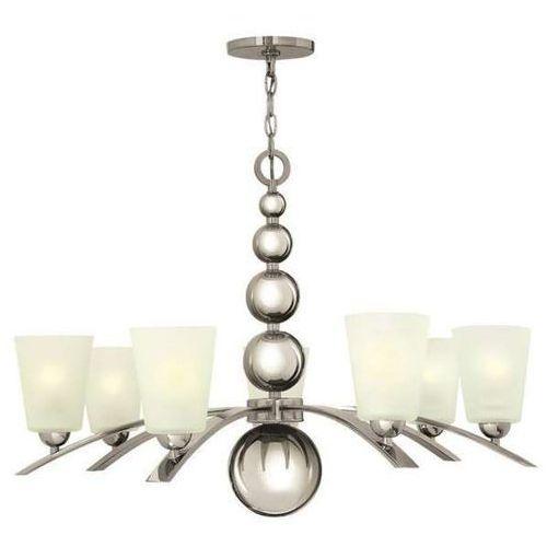 Żyrandol lampa wisząca hk/zelda7 pn elstead szkalna oprawa w stylu retro kule zwis nikiel biały marki Hinkley