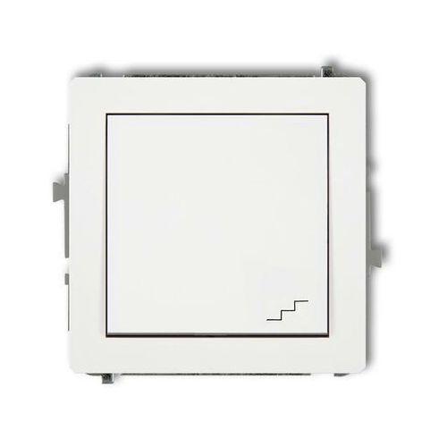 Łącznik podtynkowy schodowy DECO Karlik białe DWP-3