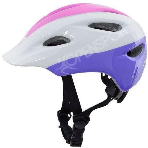 Dziecięcy kask rowerowy infano xs 48-52cm fioletowy / biały / różowy marki Kross