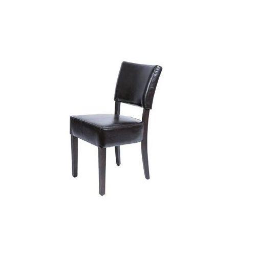 Krzesło ze skóry ekologicznej | brązowy lub beżowy | 425x450x(H)860mm | 2szt, kolor beżowy