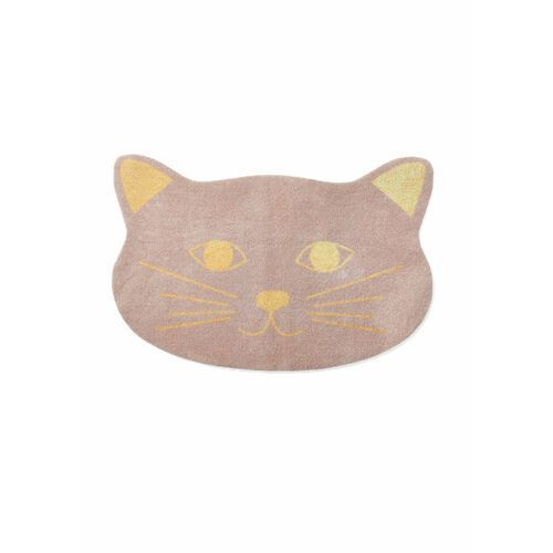 Wycieraczka w kształcie głowy zwierzątka brunatno-złoty marki Bonprix