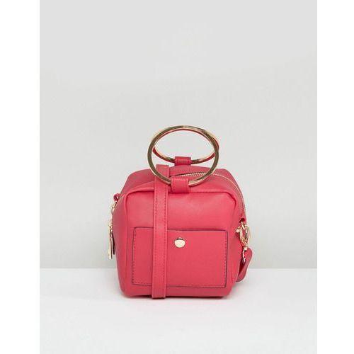 New Look Mini Cross Body Bag with Metal Handle - Pink
