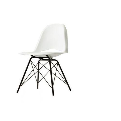 Customform Krzesło match metal black biały, match metal black, bialy