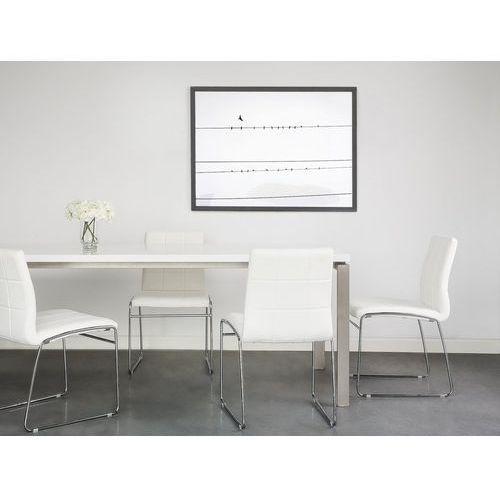 Krzesło do jadalni białe KIRON, kolor biały