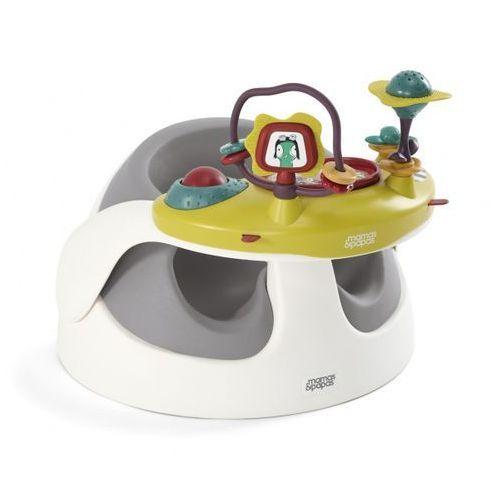 Mamas&papas Krzesełko z tacką edukacyjną baby snug - soft grey 5057232824145 (5057232824145)