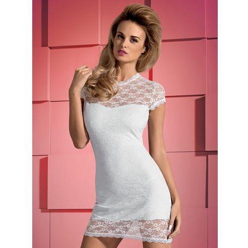 Dressita sukienka i stringi kolor biały, kolor biały