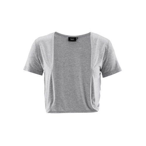 Bolerko shirtowe jasnoszary melanż, Bonprix, 32-46