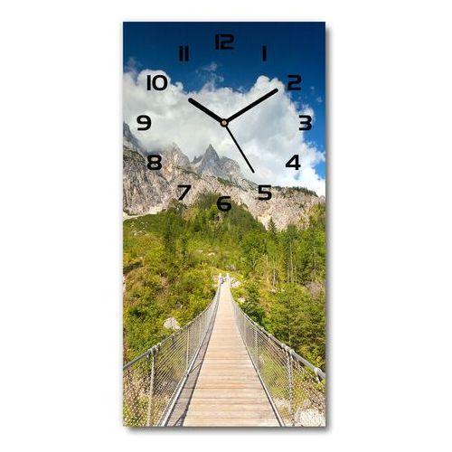 Zegar szklany ścienny Most wiszący
